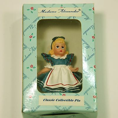 """Madame Alexander Classic Collectible Pin Alice in Wonderland 2 1/4"""" tall"""