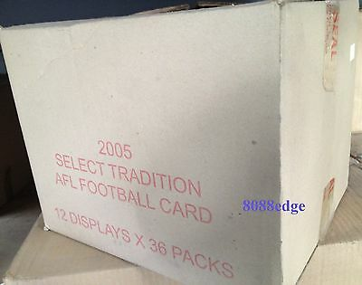 2005 Select Afl Tradition Factory Sealed Case (12 Box): Riewoldt/hall Signature