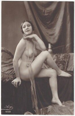 1920 French NUDE Photograph - Gorgeous Model and Great Deco Image
