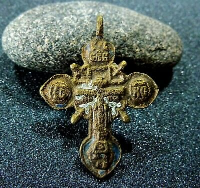 Post Medieval Bronze Cross of the Russian old believers (a714)