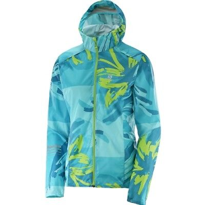 Salomon Lighning Wind Graphic Hoodie W blue bird-enamel blue-green flash Damen