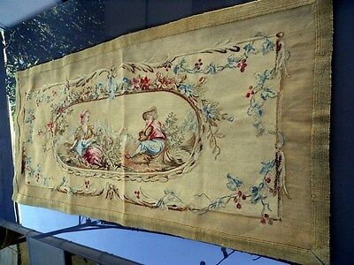 Tapestry Aubusson needlpoint  french  antique 19th-century