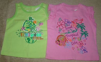 e64ee1107 2 Girls Size 6-9 Months The Children's Place Sleeveless Tops / T-Shirt