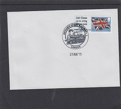 GB 2015  Post & Go ATM STEAM GWR overprint Union Flag single 1st FDC