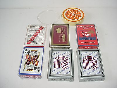 Lot of 7 Decks of Playing Cards Casino New