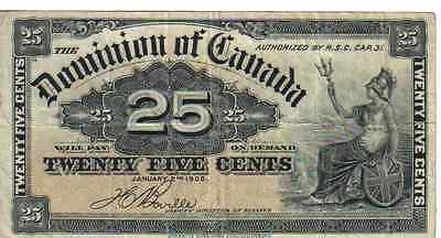 DOMINION of CANADA, 25 CENTS, P#9b, 1900