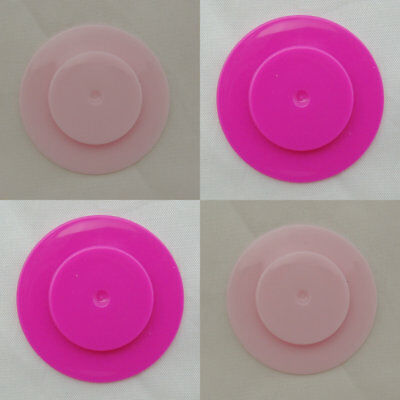 4 Sealing Disc Pink 2shades stoppers Reborn baby doll Make no nipple bottles DIY