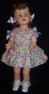"Bows Dress for 22"" Saucy Walker or similar Dolls - DRESS ONLY"