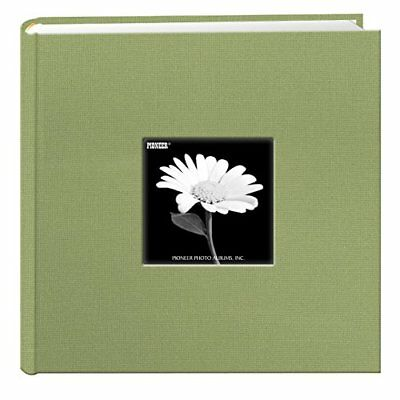 Fabric Frame Cover Photo Album 200 Pockets Hold 4x6 Photos, Sage Green New