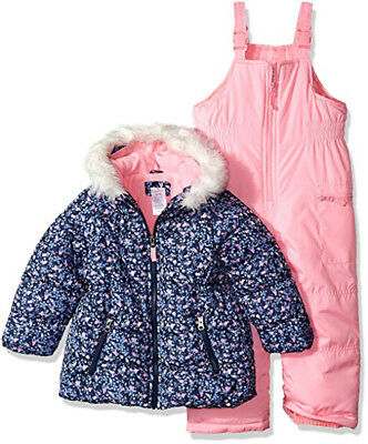 Carter's Girls Navy & Pink Floral 2pc Snowsuit Size 2T 3T 4T 4 5/6 6X