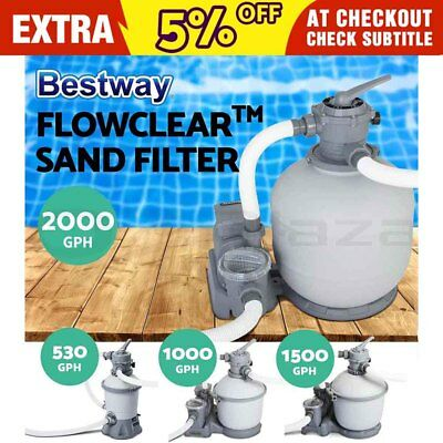 Bestway Flowclear™ Sand Filter Swimming Above Ground Pool Cleaning Pump 4 Models