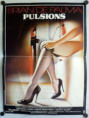 ~ Dressed to Kill Brian De Palma ORIGINAL French Promo Poster Nancy Allen