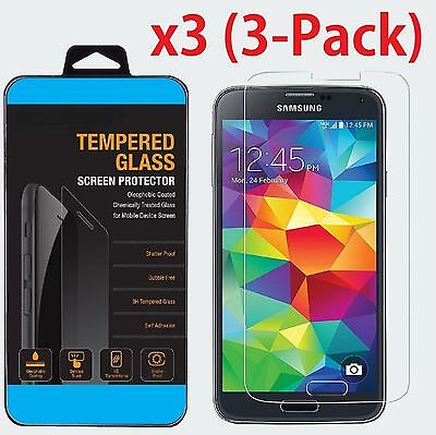 Premium Tempered Glass Screen Protector  Film for Samsung Galaxy S5 3Pcs LD