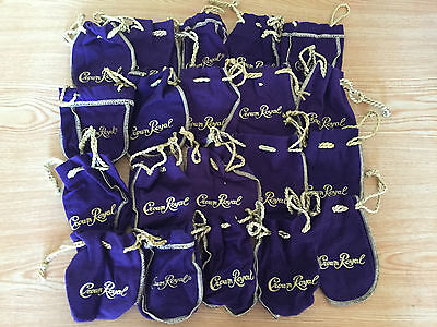 Lot Of 20 Small Crown Royal Purple & Gold Bags