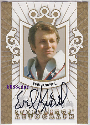 2007 Sport Kings Auto Gold: Evel Knievel /10 Autograph Motorcycle Daredevil