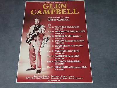 Glen Campbell Signed Poster
