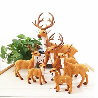 Plush Sika Deer Xmas Party Decor Ornament Halloween Holiday Party Decoration