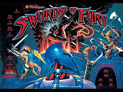 Swords of Fury Pinball LED Lighting Kit - Complete SUPER BRIGHT LED