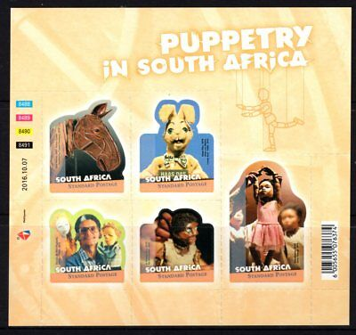 South Africa 2016 Puppetry Sheetlet 5 MNH