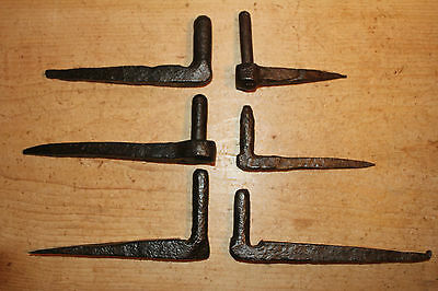 Job Lot of (6) Antique Wrought Hanging Pins/Pintles~Hand Forged~Hinges~