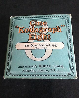 original old cine kodagraph eight - the grand national 1935 .number 8125