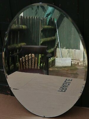 Good Looking Large Old Frameless Art Deco Type Wall Mirror