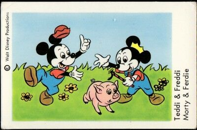 1967 Vintage Swedish Unnumbered Disney Set Gum Card Morty & Ferdie
