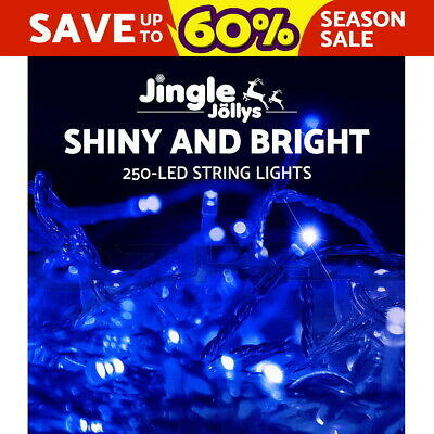 250 LED Christmas String Lights Fairy Party Wedding Outdoor Garden Blue