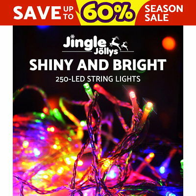 250 LED Christmas String Lights Fairy Party Wedding Outdoor Multi Colour