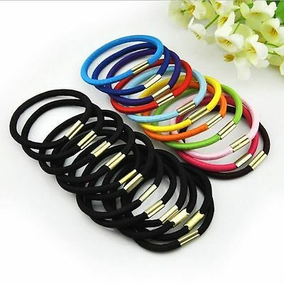 Fashion Womens Girl Multicolor Elastic Hair Band Rope Scrunchie Ponytail Holder