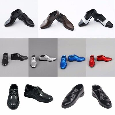 "1/6 Scale Men's Fashion Leather Shoes For 12"" Male Figure Body Clothes Suit Toy"
