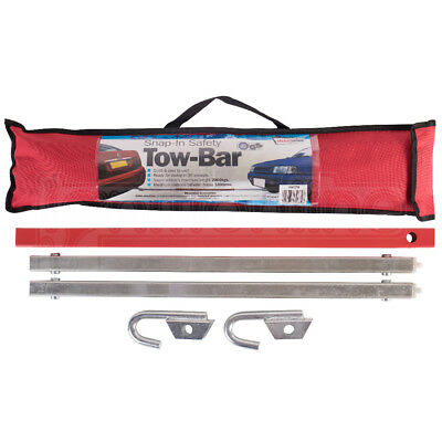 Streetwize Snap-In Safety Tow-Bar Metal Pole 2000kgs Breakdown Recovery Towing