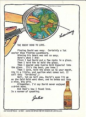 1975 Jose Cuervo Tequila Ad The Rocky Road To Love