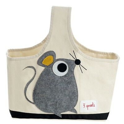 3 Sprouts Storage Caddy Mouse - Grey