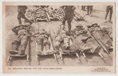 Early Postcard, Military Soldiers, Wounded Waiting For The Field Ambulances