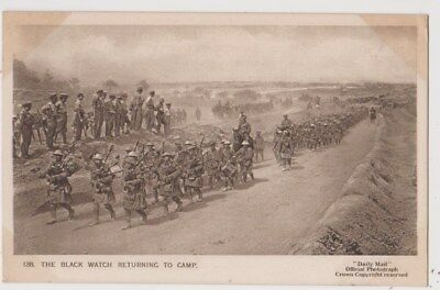 Early Postcard, Military Soldiers, The Black Watch Returning To Camp