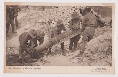 Early Postcard, Military Soldiers, Loading A Trench Mortar,