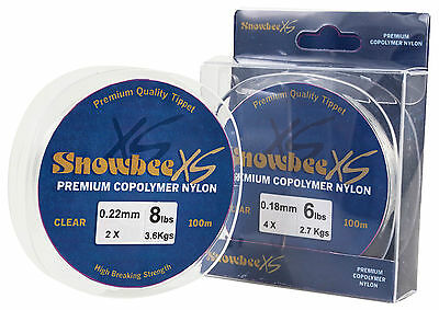 Snowbee XS Copolymer Nylon Leader Clear 100m spools