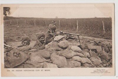 Early Postcard, Military Soldiers, A Indian Hotchkiss At Work,