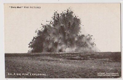 Early Postcard, Military Soldiers, A Big Mine Exploding,