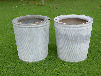 Pair Dolly/Peggy Tub-  Vintage Orig British not Repro. Ideal Planter. V Pattern
