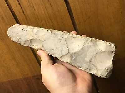 "#$# HUGE 9 1/2"" LONG Flaked Danish Flint Celt Adze Neolithic Stone Age Axe Tool"