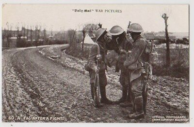 Early Postcard,Military Soldiers, A Fag After A Fight,
