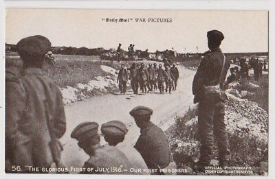 Early Postcard,Military Soldiers, Glorious 1st Of July 1916 Our First Prisoners