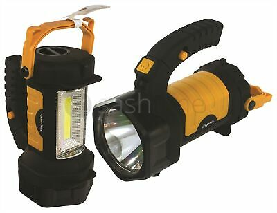 2In1 3W Cob Spotlight & Led Torch Security Light Lamp Work With Swivel Handle