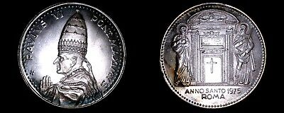 1975 Vatican City Pope Paul VI World Silver Medal - Catholic Church Italy