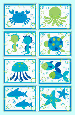 Sea Life Ocean Prints Wall Art Animal Creatures Baby Boy Nursery Room Decor