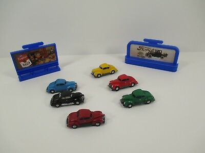 Lefton Colonial Village Billboard and Car Set Six Cars Two Billboards BX23