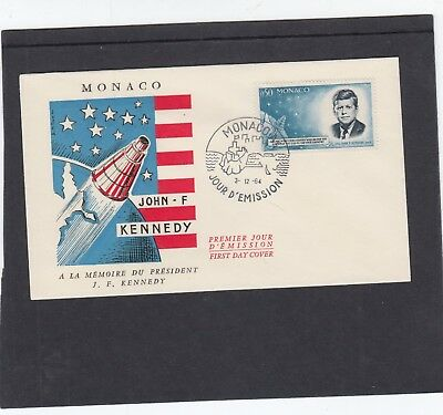 Monaco 1964 President John F Kennedy Commemoration First Day Cover FDC