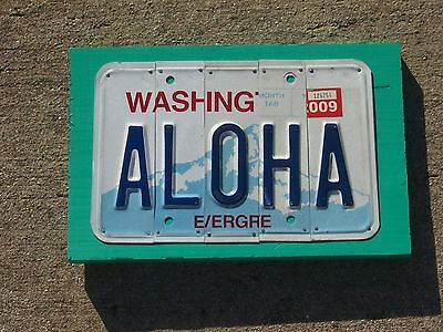Aloha License Plate Sign ***Garage Bar Mancave Art*** Free US Shipping ***